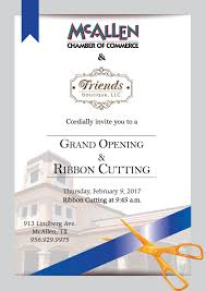 Invitation Card Grand Opening Friends Boutique Grand Opening U0026 Ribbon Cutting Mcallen Chamber