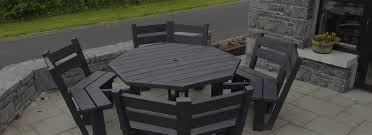 Patio Table Plastic Plastic Outdoor Table And Chairs Tags Recycled Plastic Garden