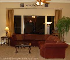 Family Room Curtains Family Room Window Treatments With A Lined Curtain Panel Tutorial