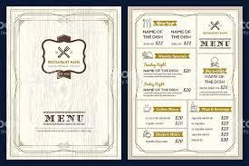 restaurant cafe menu design template with vintage retro frame