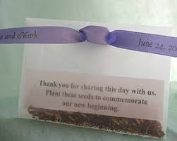 wedding seed favors a green wedding i suggest seedy wedding favors