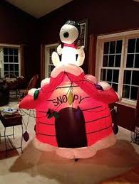 Snoopy Christmas Inflatable Decorations by Details About Big Rare Peanuts Airblown Charlie Brown Snoopy