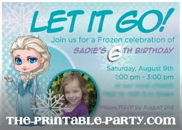 custom printable frozen elsa invitation the printable party