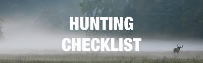 hunting checklist sierra trading post