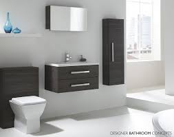 Bathroom Storage Unit White by Aquatrend Designer Modular Tall Bathroom Cabinet Avola Grey