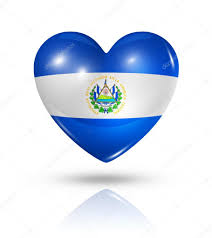 Flag El Salvador Love El Salvador Heart Flag Icon U2014 Stock Photo Daboost 31149799