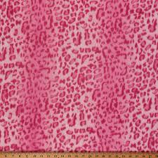 leopard fabric yukonfleece pink leopard animal print fleece fabric print by the