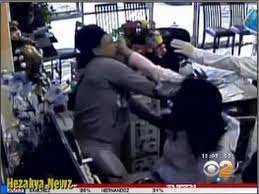 caught on camera fight between asian nail salon owner and