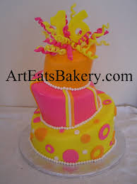 orange pink and yellow mad hatter topsy turvy sweet 16 u0027s