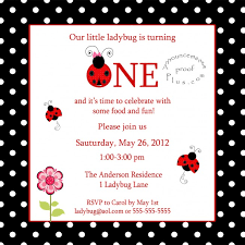 ladybug 1st birthday invitations ladybug 1st birthday invitations