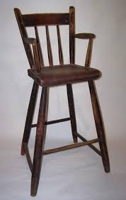 Antique High Back Chairs Childs Windsor High Chair