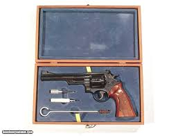 s u0026w model 25 revolver in 45 a c p in it u0027s original factory wood