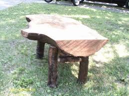 handmade rustic u0026 log furniture oak log bench and coffee table