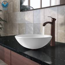 Corner Bathroom Sink Ideas by Copper Was Bowl With Rustic Wooden Cabinet For Corner Bathroom