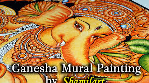 Mural Painting Sketches by Mural Painting Ganesha By Shamilart Youtube