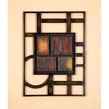geometric metal wall art modern home