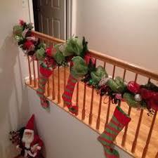 wide mesh ribbon deco mesh banister diy banisters christmas decor
