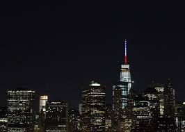 world trade center lights one world trade center buildings across the globe light up for paris