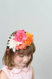 flower hairband paper flower headband diy
