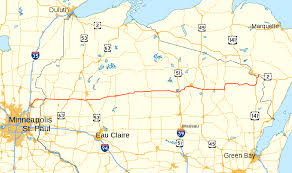 Wisconsin Scenic Drives Map U S Route 8 Wikipedia