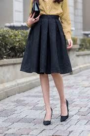 pleated skirt charming a line knee length structured pleated skirt novashe