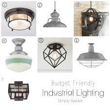 industrial lighting flushmount bathroom interiordesignew com
