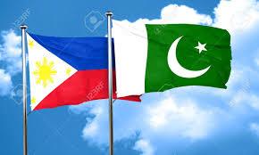 Oakistan Flag Philippines Flag With Pakistan Flag 3d Rendering Stock Photo