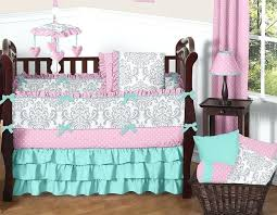 Pink Brown Crib Bedding Baby Pink Bedding By Baby Crib Bedding Sets Pink And