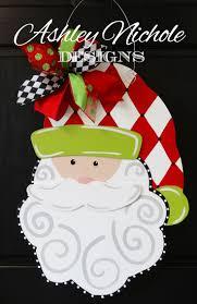 41 best santa door hangers images on pinterest christmas ideas