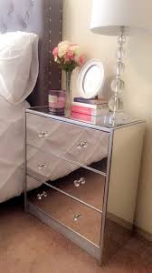 furniture round bedside table mirrored nightstand ikea night