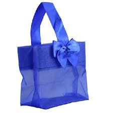organza bag royal blue sheer organza favor bags with satin handle and bow 11