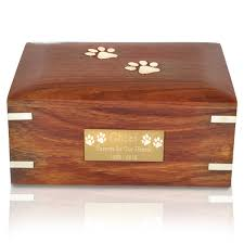 pet urns for dogs forever paw prints wooden box pet urn