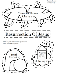 church house collection blog resurrection of jesus cut out craft