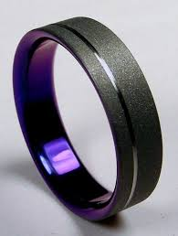 mens wedding bands that don t scratch mens wedding band burnished grey titanium on the outside