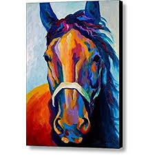 painting for home decoration amazon com horse art prints on canvas animal painting for home