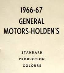 1967 berger holden paint charts and colour codes