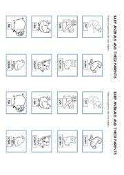 animal mothers and their babies worksheet baby care