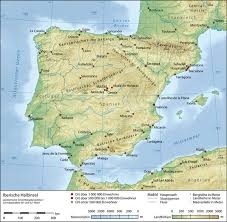 physical map of spain iberian peninsula physical map spain mappery