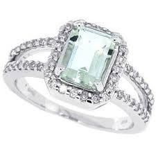 green amethyst engagement ring 1 45ct emerald cut green amethyst diamond ring i