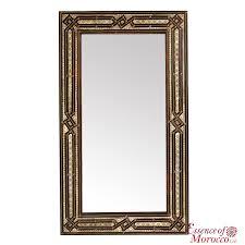 moroccan mirror hand carved wood antique moroccan design xl 100 cm