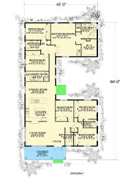u shaped floor plans with courtyard plan 32221aa 6 bedroom u shaped house plan southern shapes and