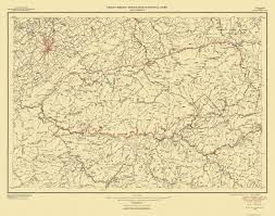 Topographical Map Of Tennessee by Old Topographical Map Great Smoky Mountains 1950