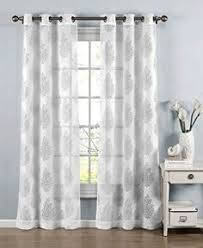 Kitchen Sheer Curtains by Amazonsmile Eshowee Leaves Printed Voile Door Window Sheer