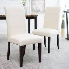morgana tufted parsons dining chair set of 2 hayneedle