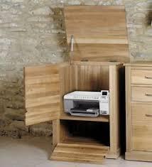 Printer Storage Cabinet Mobel Solid Oak Home Office Furniture Printer Storage Cabinet