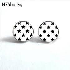 surgical steel stud earrings earrings rockabilly jewelry black on white hypoallergenic s