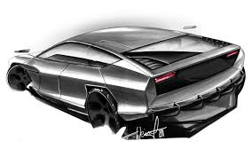lamborghini cnossus supercar concept version munich university students dream up future lamborghini models