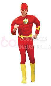 flash muscle chest justice league dc comics halloween costume