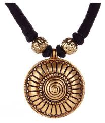 pendant necklace india images Tribes india necklace black thread with brass pendant buy tribes jpeg