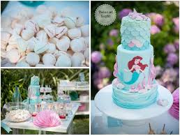 ariel little mermaid themed birthday party mermaid party